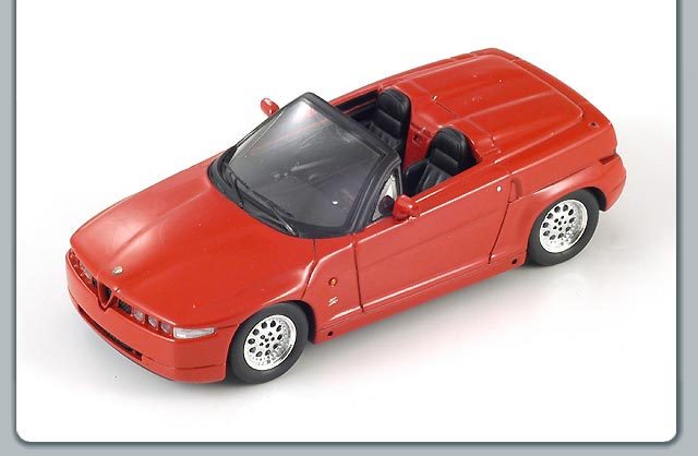 Spark: 1992 Alfa Romeo SZ Spider - Red (S0609) in 1:43 scale