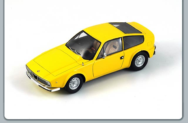 Spark: 1974 Alfa Romeo Junior Z 1600 - Yellow (S0614) в 1:43 масштабе