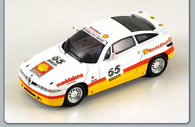 Spark: 1991 Alfa Romeo SZ Trophy #65 - Madalena Monte Shell (S0616) in 1:43 scale