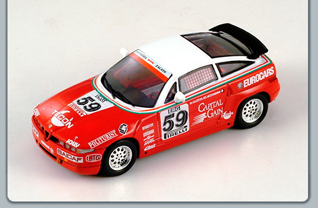 Spark: 1991 Alfa Romeo SZ Trophy #59 - Red (S0617) in 1:43 scale