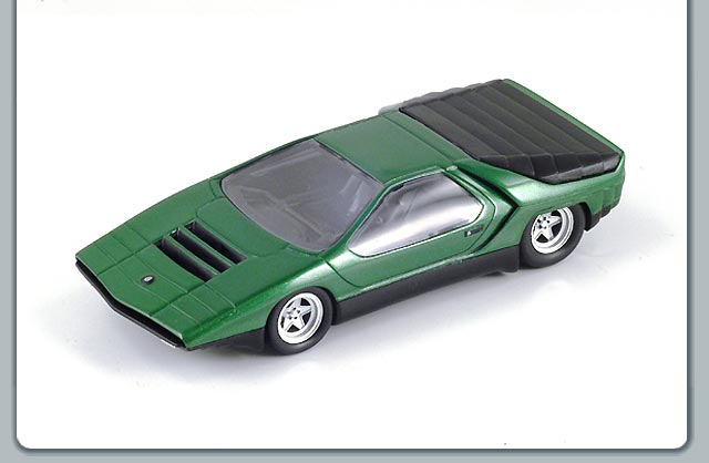 spark 1970 alfa romeo carabo green metallic s0619 in 1 43 scale