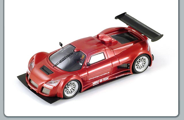Spark: 2005 Gumpert Apollo Presentation - Dark Red (S0666) im 1:43 maßstab