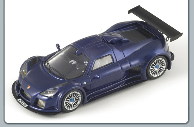 Spark: 2008 Gumpert Apollo S - Metallic Blue (S0669) в 1:43 масштабе