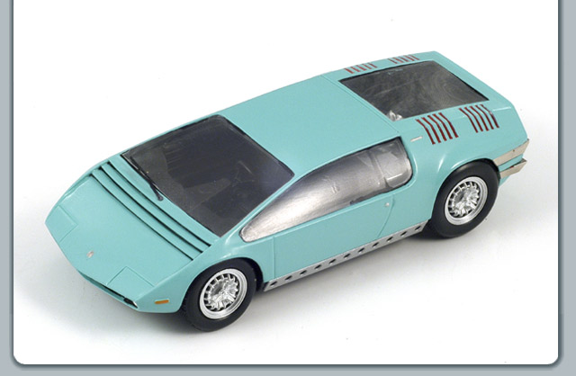 Spark: 1969 Bizzarrini Manta - Mint Green (S0695) im 1:43 maßstab