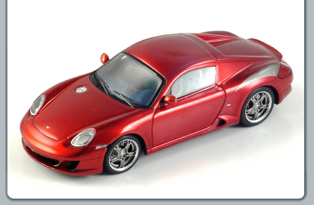 Spark: 2006 Ruf Porsche RK Coupe - Metallic Red (S0709) в 1:43 масштабе