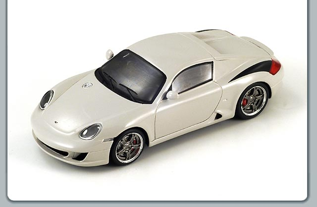 Spark: 2007 Ruf RK Coupe - Marble Grey (S0713) im 1:43 maßstab