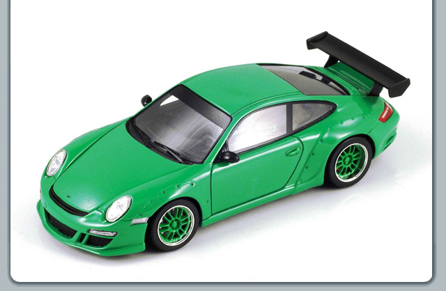 Spark: 2007 Ruf Porsche Coupe RGT - Bright Green (S0715) в 1:43 масштабе