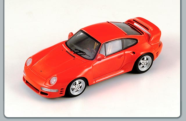 Spark: 1996 Ruf Porsche CTR 2 Sport - Red (S0724) in 1:43 scale