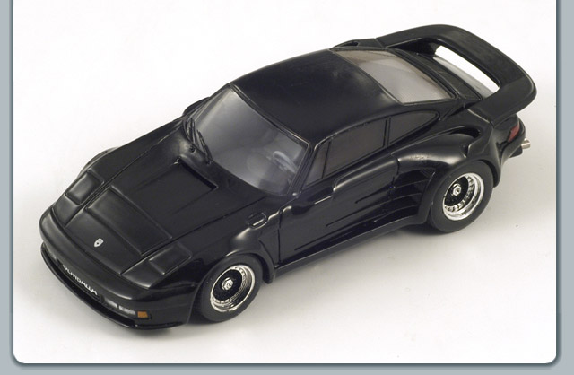 Spark: 1988 Gemballa Mirage Chopped Roof - Black (S0731) in 1:43 scale
