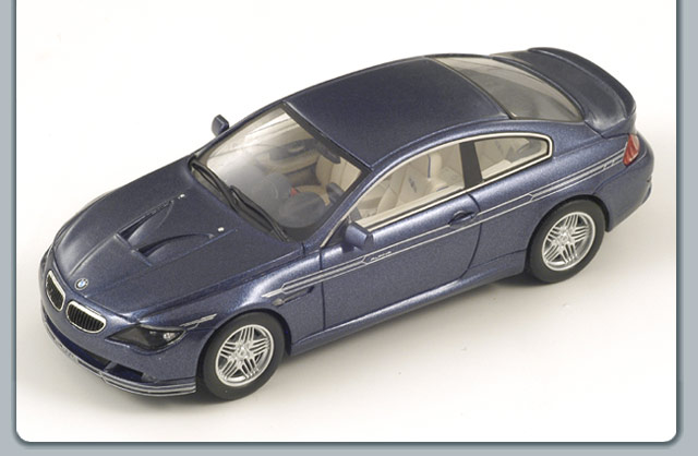Spark: 2008 Alpina B6 S Coupe - Metallic Blue (S0740) in 1:43 scale