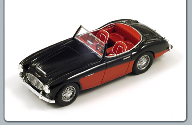 Spark: 1957 Austin Healey A100/6 - Black/Red (S0811) в 1:43 масштабе