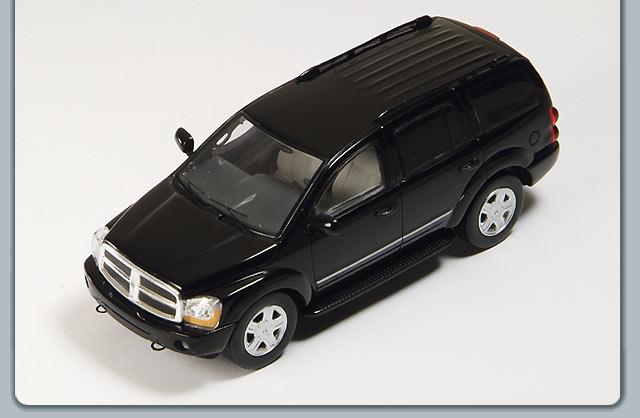 Spark: 2005 Dodge Durango - Black (S0854) in 1:43 scale ...
