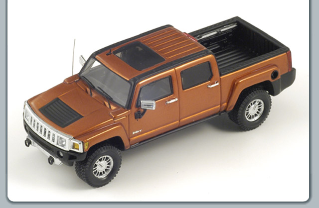 Spark: 2008 Hummer H3T - Desert Orange Metallic (S0867) в 1:43 масштабе