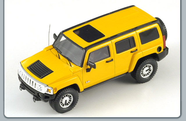 Spark: 2006 Hummer H3 - Yellow (S0874) in 1:43 scale