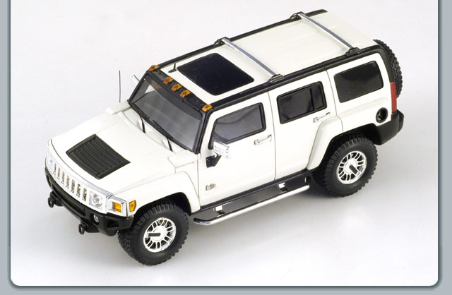 Spark: 2008 Hummer H3 - White (S0875) in 1:43 scale