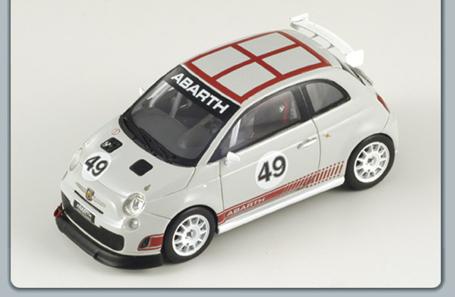 Spark: 2008 Fiat Abarth Assetto Corsa - Grey (S1315) в 1:43 масштабе