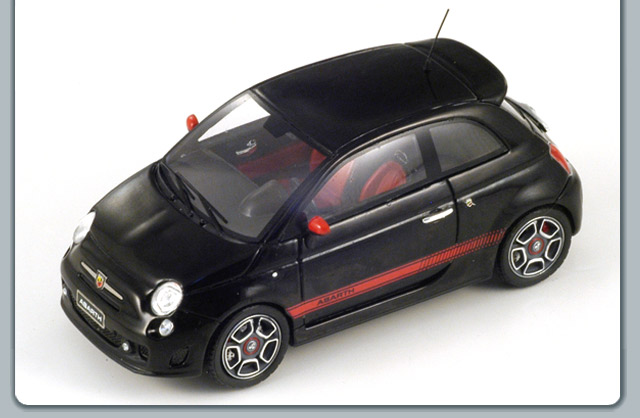 Spark: 2008 Fiat 500 Abarth - Black (S1316) in 1:43 scale