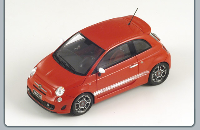 Spark: 2009 Fiat 500 Abarth - Red (S1317) in 1:43 scale