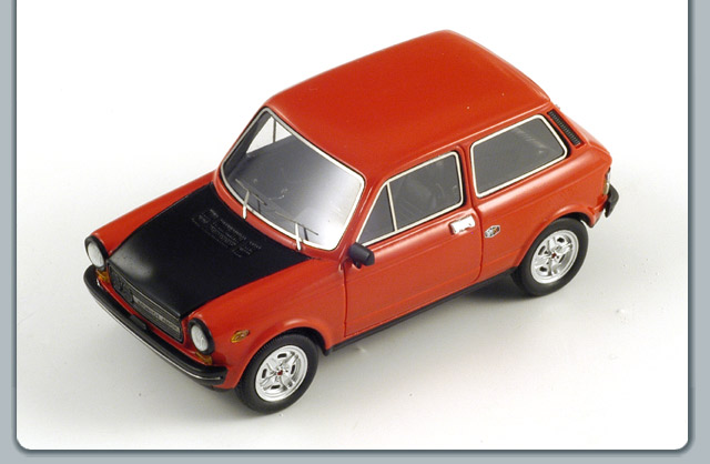 Spark: 1974 Autobianchi A112 Abarth - Red (S1326) im 1:43 maßstab