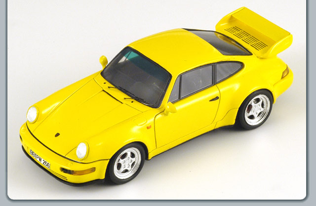 Spark: 1993 Porsche 911 Carrera RS 3.8 Coupe (964) - Yellow (S1935) в 1:43 масштабе