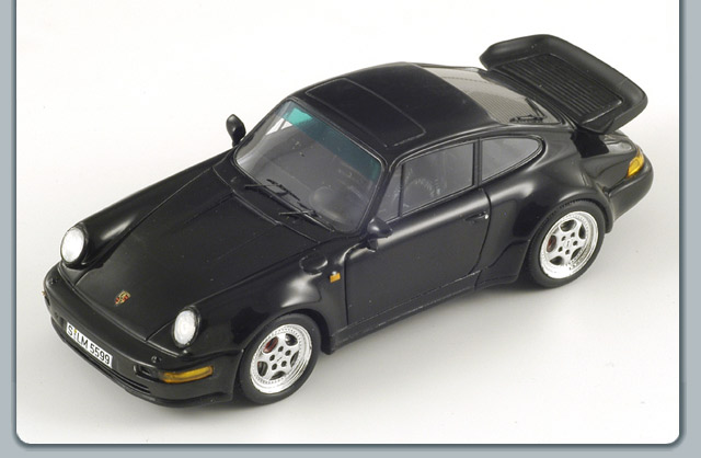 Spark: 1993 Porsche 911 Turbo 3.6 (964) - Black (S1936) в 1:43 масштабе