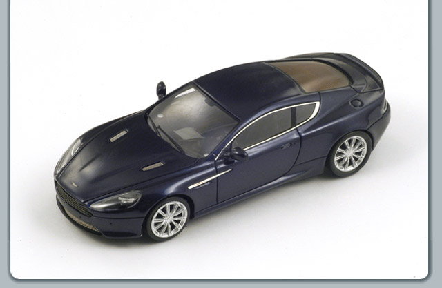 Spark: 2012 Aston Martin Virage - Dark Metallic Blue (S2170) в 1:43 масштабе
