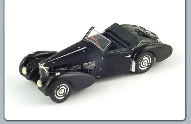 Spark: 1937 Bugatti 57 S Gangloff - Dark Blue (S2701) in 1:43 scale