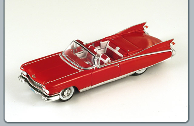 1959 cadillac cyclone xp 74 concept in black resin model car in 1:18 scale by minichamps