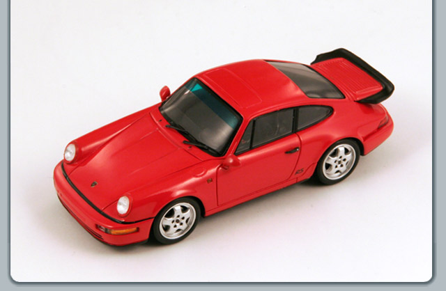 Spark: 1993 Porsche 911 (964) RS America Coupe - Red (S3458) in 1:43 scale