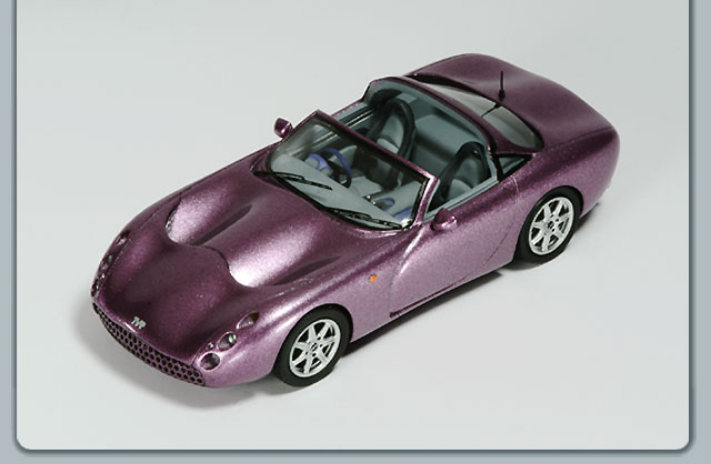 Spark: TVR Tuscan Open - Purple (SPTR07) in 1:43 scale