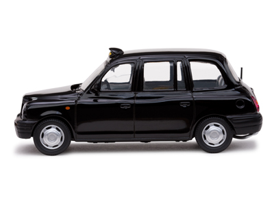 Sun Star: 1999 London Taxi Cab TX1 - Black (10200) в 1:43 масштабе