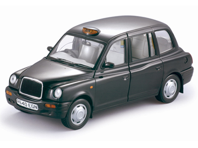 Sun Star: 1998 London Taxi Cab TX1 - Black (1120) in 1:18 scale