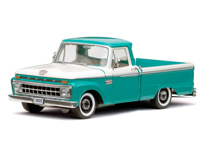 Sun Star: 1965 Ford F-100 Pick Up Custom Cab - Caribbean Turquoise (1280) in 1:18 scale