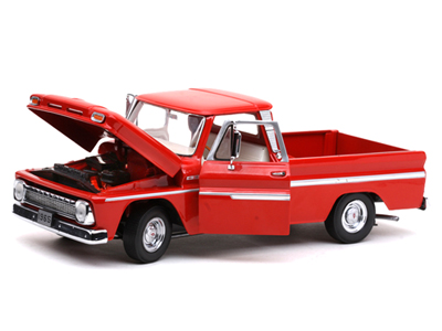Sun Star: 1965 Chevrolet C-10 Styleside Pickup - Red (1361) в 1:18 масштабе