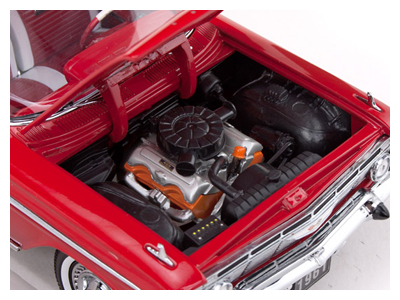 Sun Star: 1961 Chevrolet Impala Sport Coupe - Roman Red (2100) в 1:18 масштабе