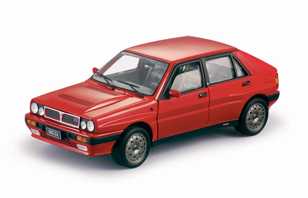 Sun Star: 1990 Lancia Delta HF - Monza Red (3102) in 1:18 scale