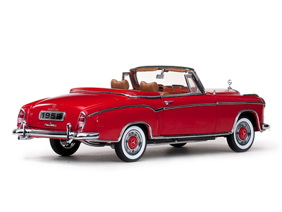 Sun Star: 1958 Mercedes-Benz 220SE Open Convertible - Red (3551) in 1:18 scale