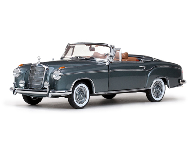 Sun Star: 1958 Mercedes-Benz 220SE Open Convertible - Silver (3552) в 1:18 масштабе