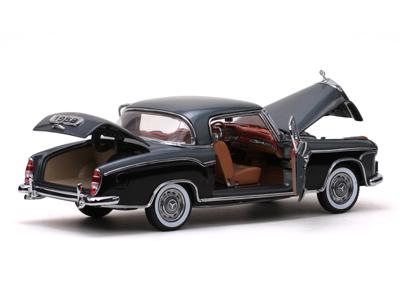 Sun star 1958 mercedes benz 220se coupe silver black for Sun motor cars mercedes benz
