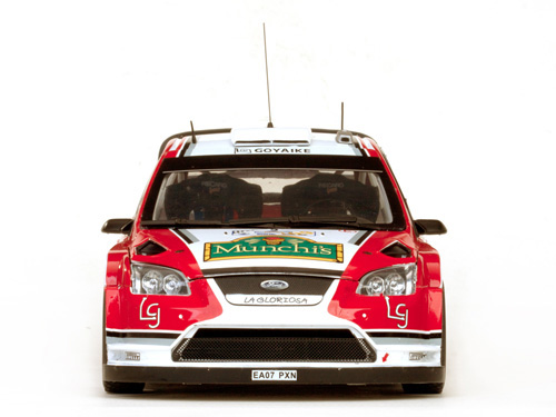 Sun Star: Ford Forus RS WRC08 - 4th Rally Acropolis 2009 #9 (3949) in 1:18 scale