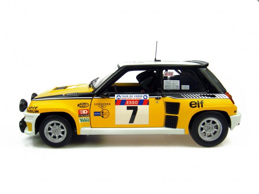 universal hobbies renault 5 turbo 1982 tour de corse winner 7 4535 in 1 18 scale mdiecast. Black Bedroom Furniture Sets. Home Design Ideas