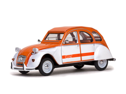 Vitesse: 1976 Citroen 2CV - SPOT Orange (23364) in 1:43 scale