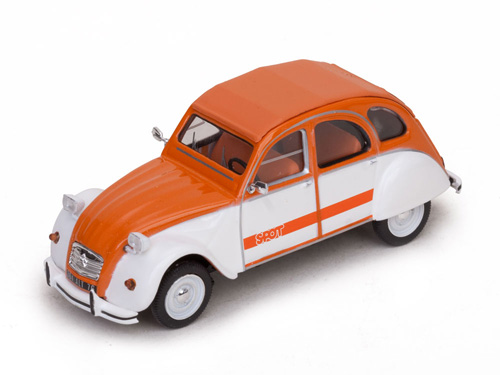 ... Vitesse: 1976 Citroen 2CV - SPOT Orange (23364) in 1:43 scale
