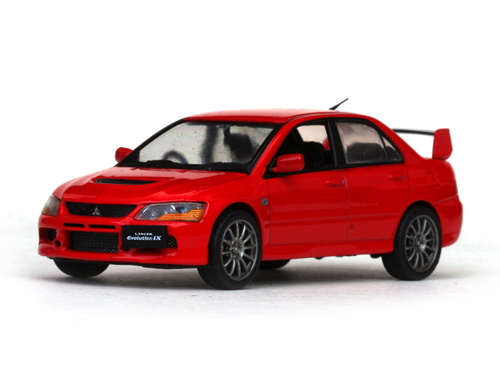 Vitesse: Mitsubishi Lancer Evolution IX (RHD) - Flame Red (29219R) in 1:43 scale - mDiecast