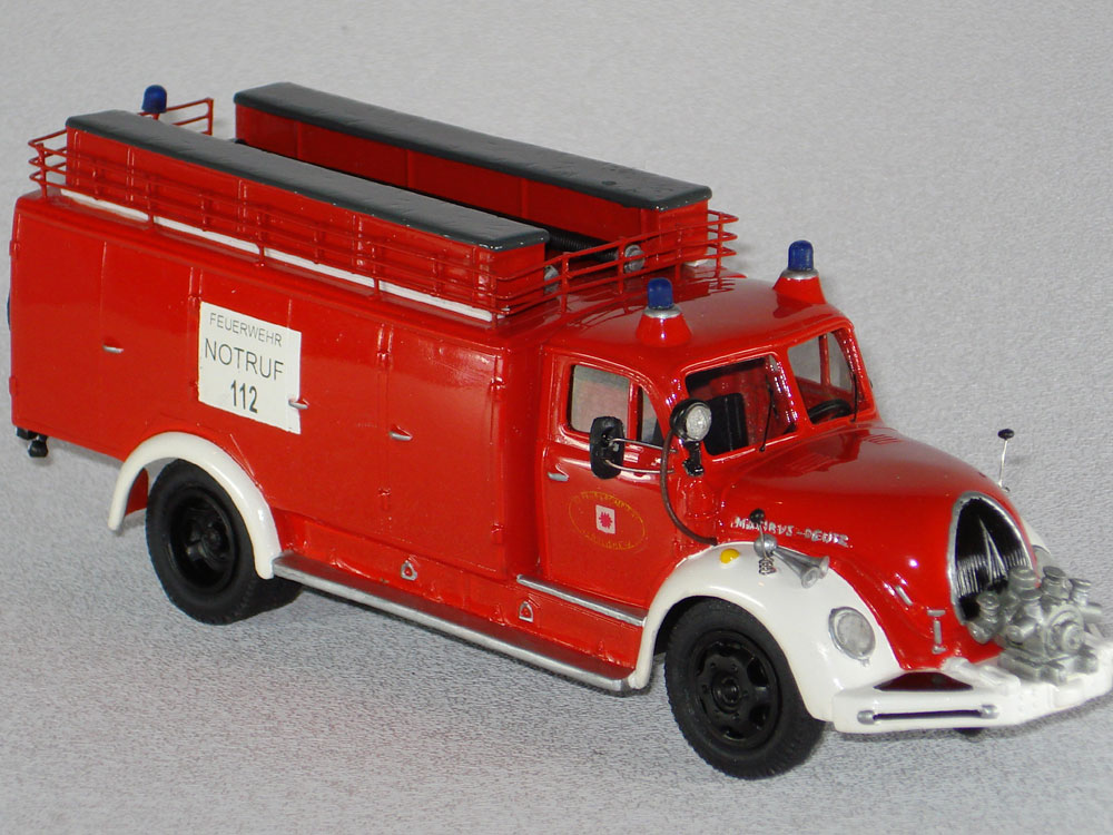 Vector Models: Magirus Mercur F-125 GW-1 in 1:43 scale
