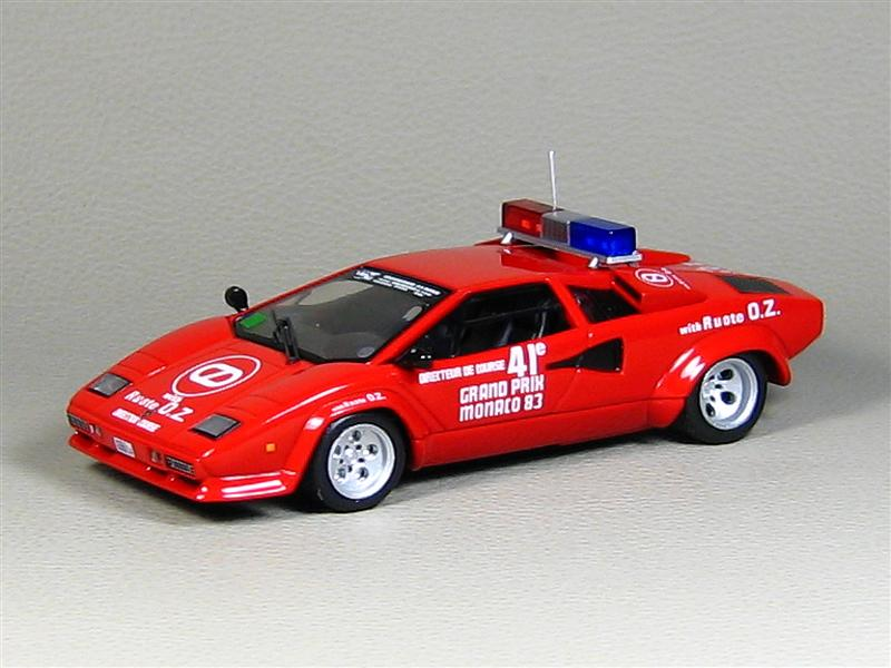Ixo Lamborghini Countach Safety Car Monaco Gp 1983 In 1