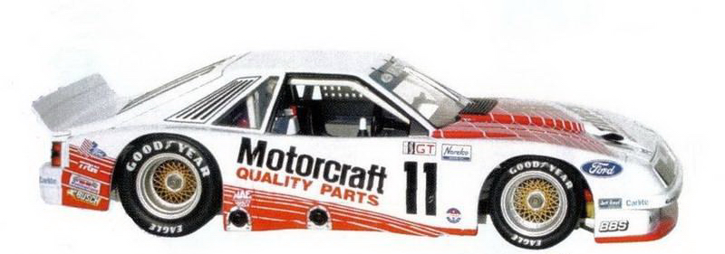 Ford Racing Parts >> GMP: 1986 IMSA Motorcraft Parts Roush Racing Ford Mustang (13001) in 1:18 scale - mDiecast
