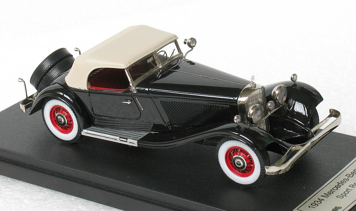 Emc 1934 Mercedes Benz 380k Sport Roadster Closed In 1 43 Scale Mdiecast