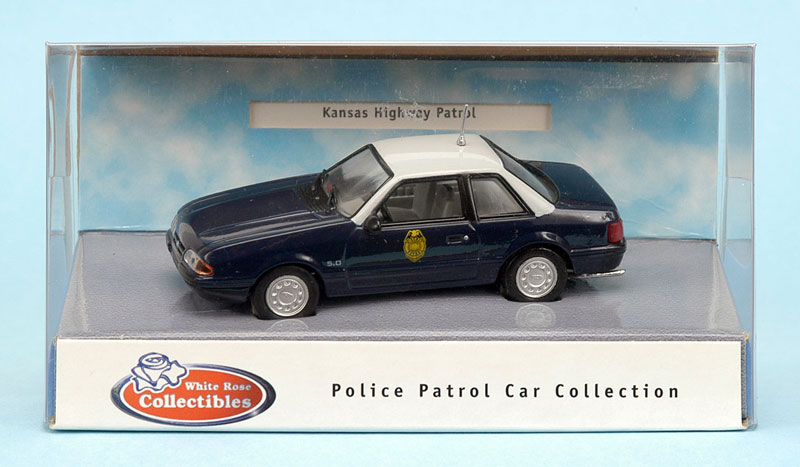 White Rose Collectibles: 1991 Ford Mustang Kansas Highway Patrol (DEDGM99107WIN) in 1:43 scale . Picture provided by Natty, 2012-04-28 02:56:49