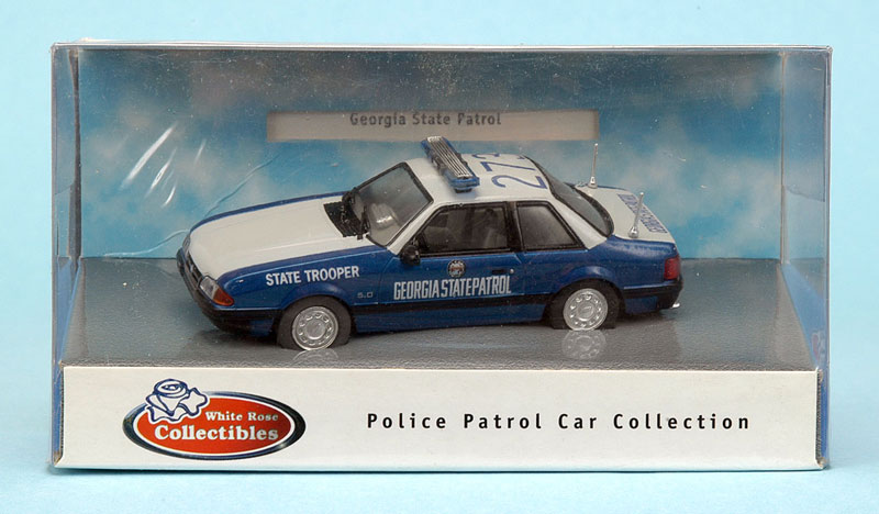 White Rose Collectibles: 1991 Ford Mustang Georgia State Patrol (DEDGM99107WAK) im 1:43 maßstab